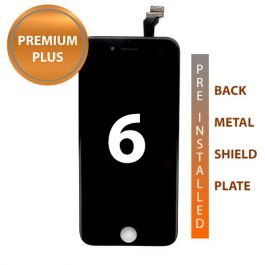 iPhone 6 Premium Plus Display Assembly with Back Plate - Black