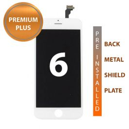 iPhone 6 Premium Plus Display Assembly with Back Plate - White