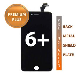 iPhone 6 Premium Plus Plus Display Assembly with Back Plate - Black