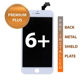 iPhone 6 Plus Premium Plus Display Assembly with Back Plate - White