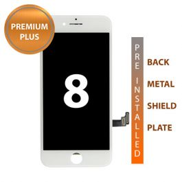 iPhone 8 Premium Plus Display Assembly with Back Plate - White