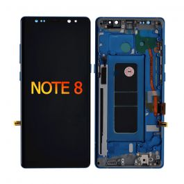 LCD Display Assembly with Frame for Galaxy Note 8 (Deep Sea Blue)