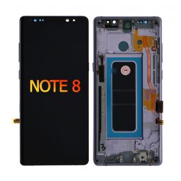 LCD Display Assembly with Frame for Galaxy Note 8 ((Orchid Gray)