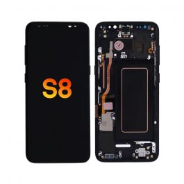 LCD Display Assembly with Frame for Galaxy S8 (Midnight Black)