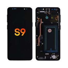 LCD Display Assembly with Frame for Galaxy S9 (Midnight Black)