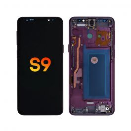 LCD Display Assembly with Frame for Galaxy S9 (Lilac Purple)