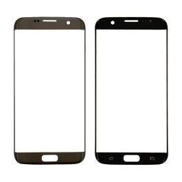 Samsung Galaxy S7 Edge Front Outer Glass Lens - Black